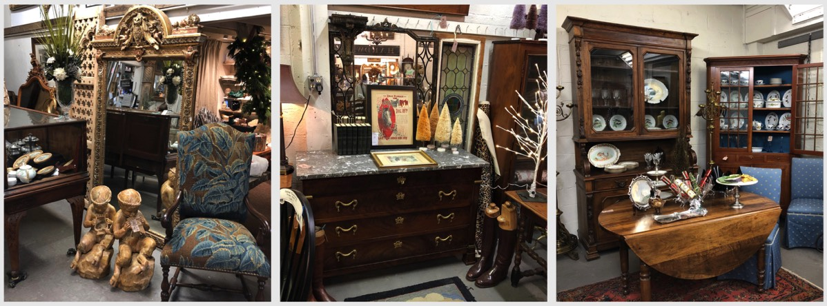 antique mirror, dresser, table, cabinet
